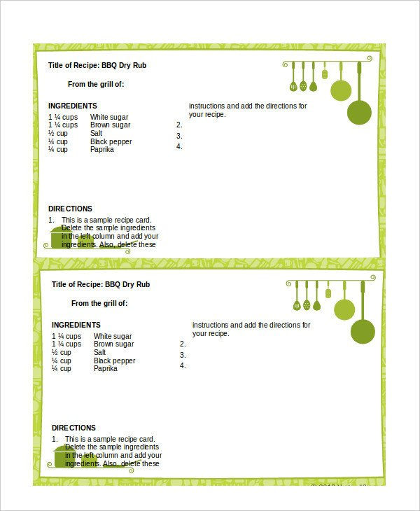 Microsoft Word Recipe Template Word Recipe Template 6 Free Word Documents Download