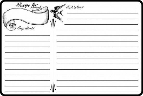 Microsoft Word Recipe Templates 13 Recipe Card Templates Excel Pdf formats
