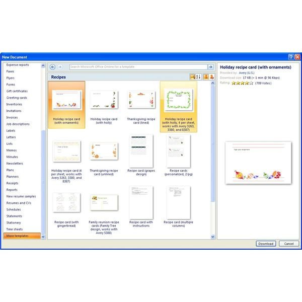 Microsoft Word Recipe Templates Finding Microsoft Word Recipe Templates