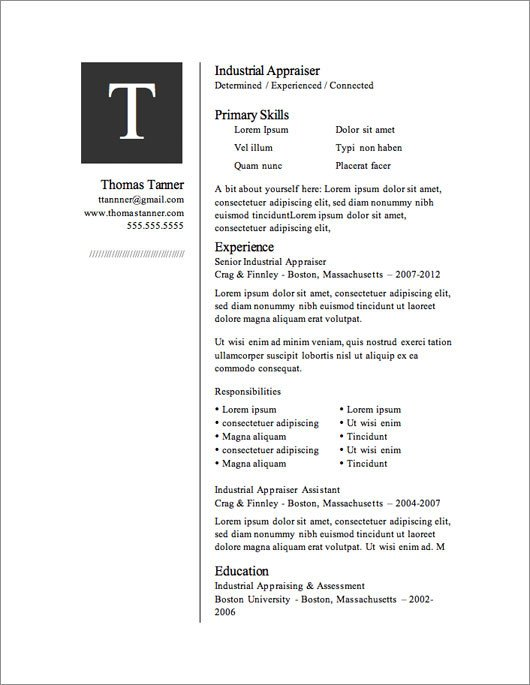 Microsoft Word Resume Template Download 12 Resume Templates for Microsoft Word Free Download