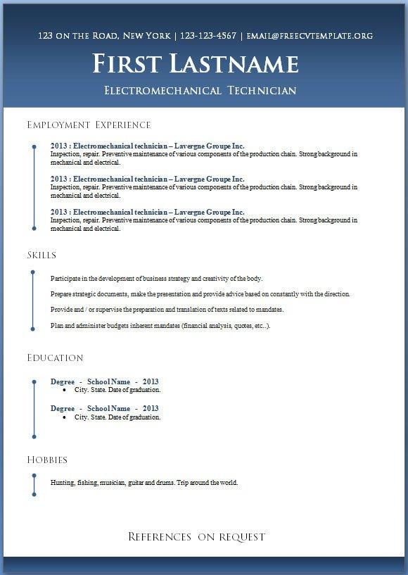Microsoft Word Resume Template Download 50 Free Microsoft Word Resume Templates for Download