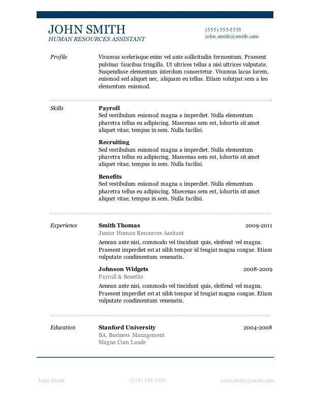 Microsoft Word Resume Template Download 7 Free Resume Templates Job Career