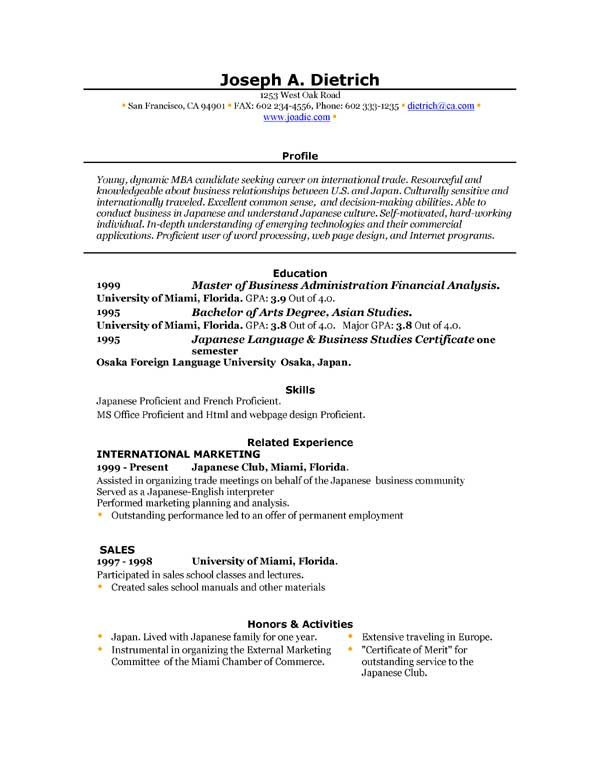 Microsoft Word Resume Template Download 85 Free Resume Templates