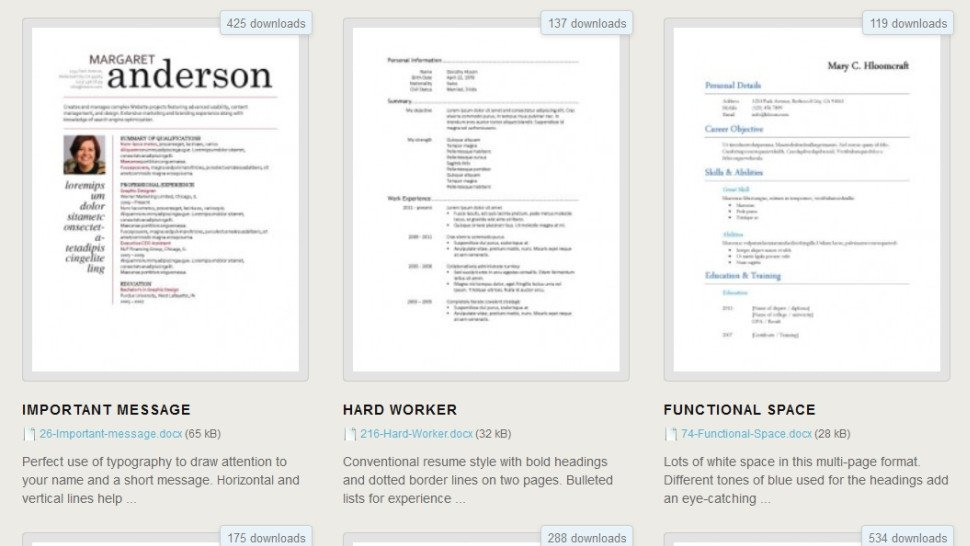 Microsoft Word Templates Download Download 275 Free Resume Templates for Microsoft Word