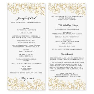Microsoft Word Wedding Program Templates Wedding Program Template Download Instantly by Karmakweddings