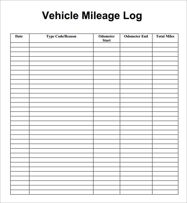 Mileage Reimbursement form Template Mileage Log Template 14 Download Free Documents In Pdf Doc
