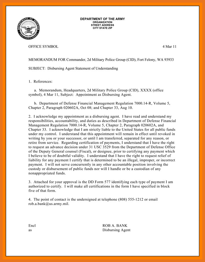 Military Letter Of Recommendation Template 6 7 Army Letter Of Re Mendation