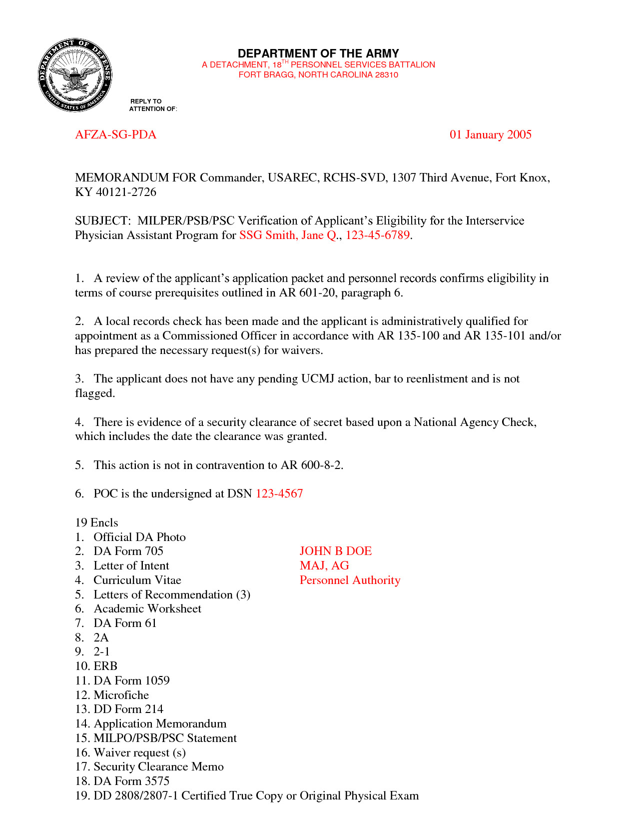 Military Letter Of Recommendation Template Best S Of Army Letter format Military Letter format