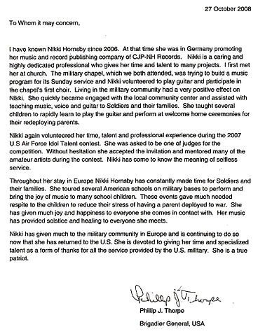 Military Letter Of Recommendation Template File Nikki Hornsby Military Re Mendation Letter