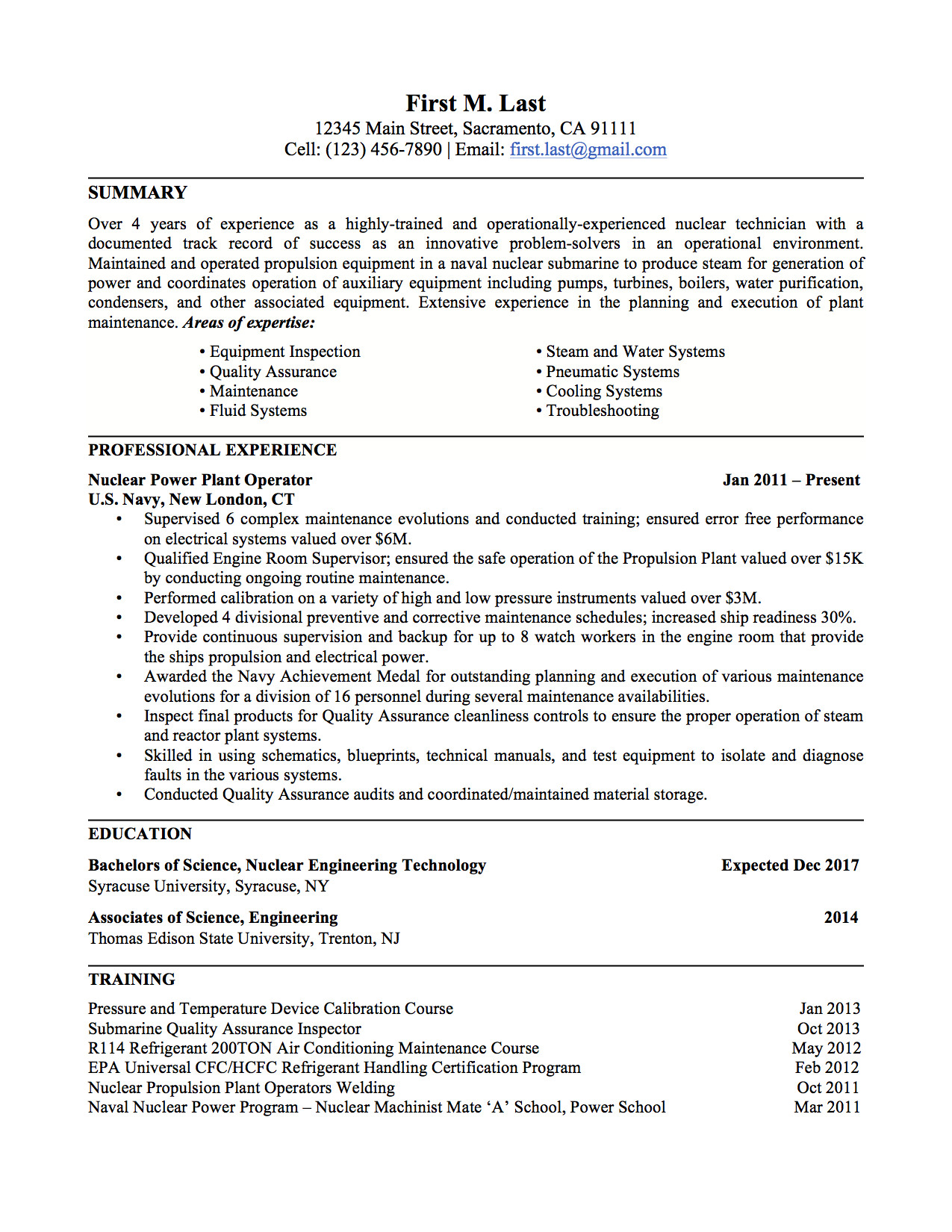 Military to Civilian Resume Template Military to Civilian Resume Examples