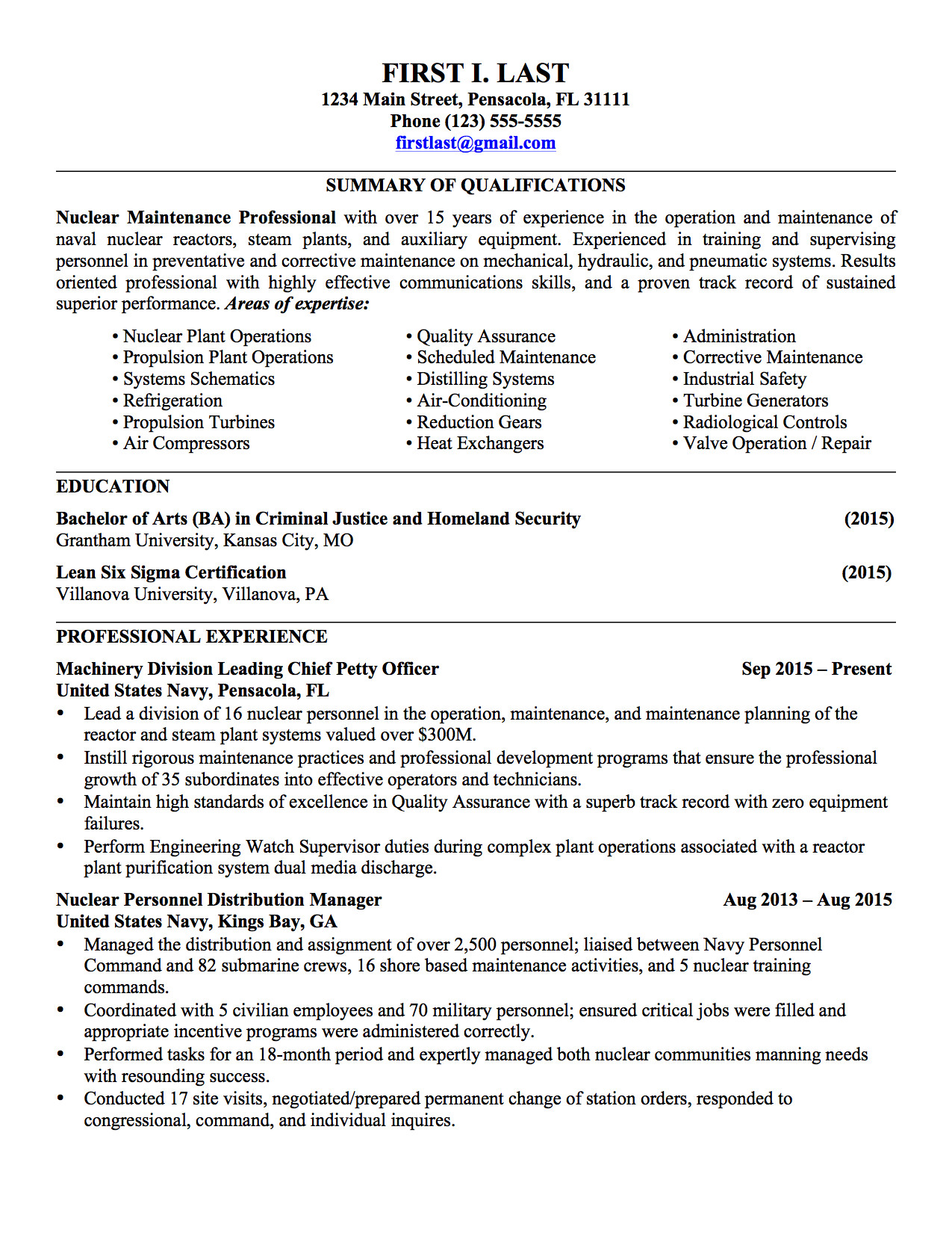 Military to Civilian Resume Template Sample Military Civilian Resumes Hirepurpose Conversion
