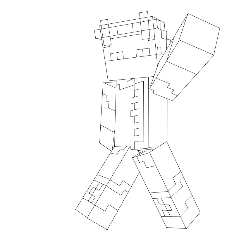 Minecraft Avatar Template Minecraft Avatar Lineart by Barodas On Deviantart