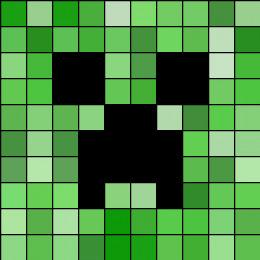 Minecraft Creeper Pattern Printable Creeper Perler Bead Pattern Bead Sprites