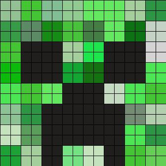 Minecraft Creeper Pattern Printable Kandi Patterns for Kandi Cuffs Characters Pony Bead Patterns