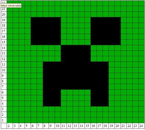 Minecraft Creeper Pattern Printable Minecraft Creeper Crochet Pattern Hooking It