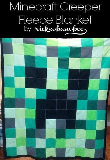 Minecraft Creeper Pattern Printable Minecraft Creeper Fleece Blanket Rickabamboo