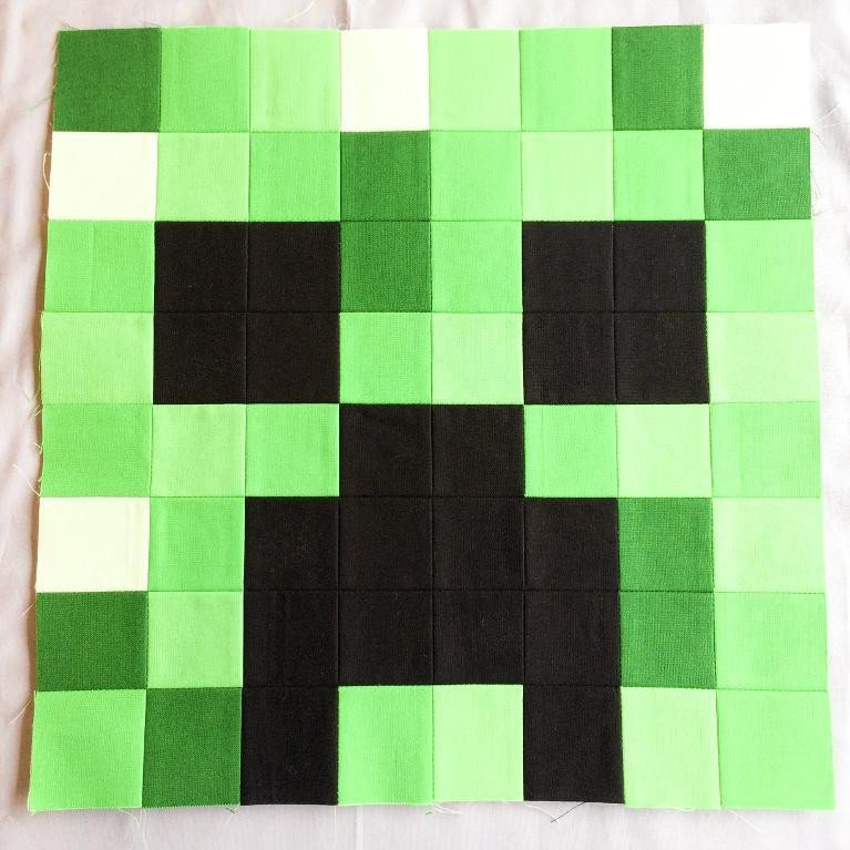 Minecraft Creeper Pattern Printable Minecraft Quilt Block Creeper by Tricia Curtis Craftsy