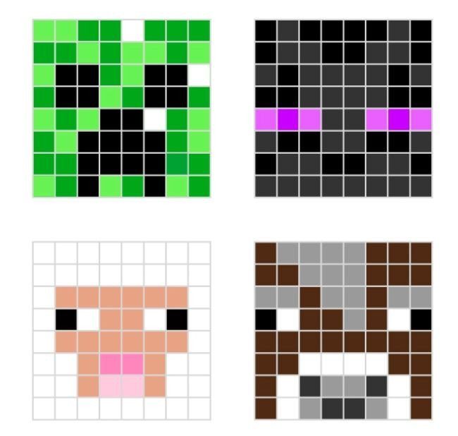 Minecraft Easy Pixel Art 410 Fun Activities for Kids Boredom Buster