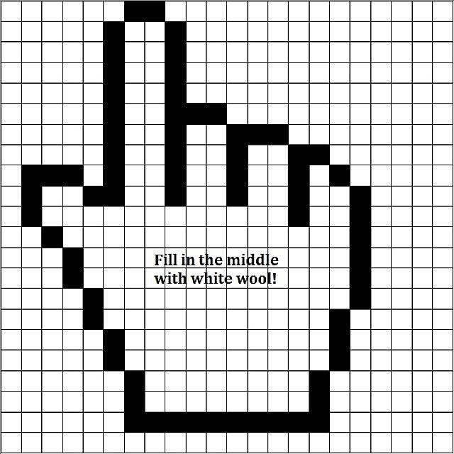 Minecraft Easy Pixel Art Simple Pixel Art 1 Mouse Cursor Minecraft Blog