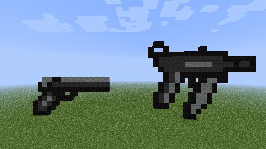 Minecraft Gun Pixel Art 2 Call Duty Guns Minecraft Project