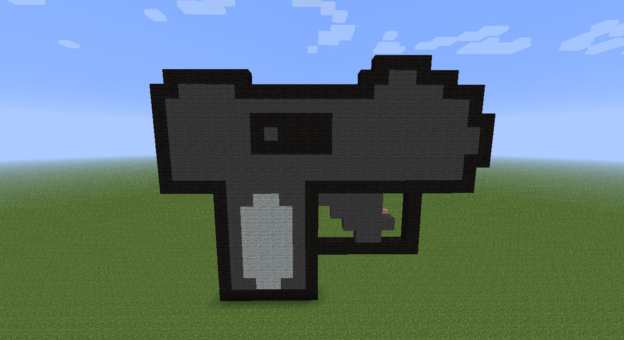 Minecraft Gun Pixel Art Mac 11 Minecraft Pixel Art by Xenomorph111 On Deviantart