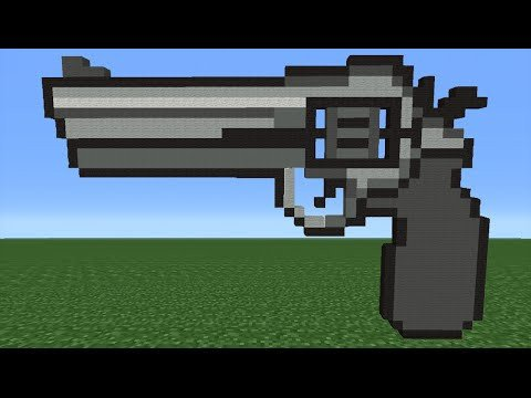 Minecraft Gun Pixel Art Minecraft Tutorial How to Make A Gun Emoji
