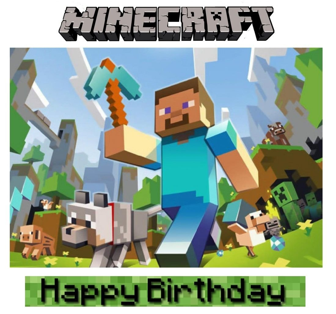Minecraft Happy Birthday Images Minecraft Birthday Party Ideas