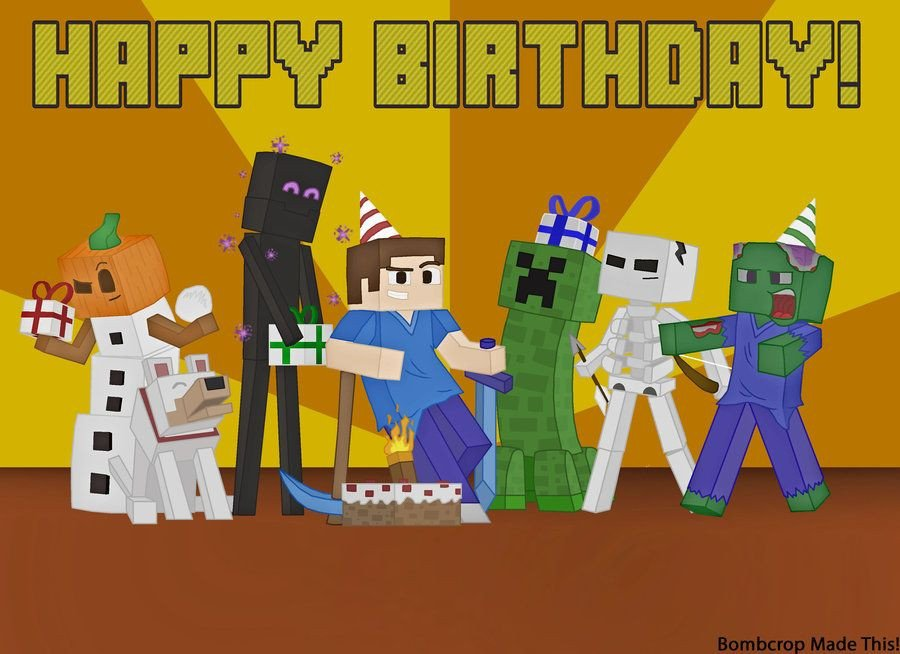 Minecraft Happy Birthday Images Minecraft Font Happy Birthday