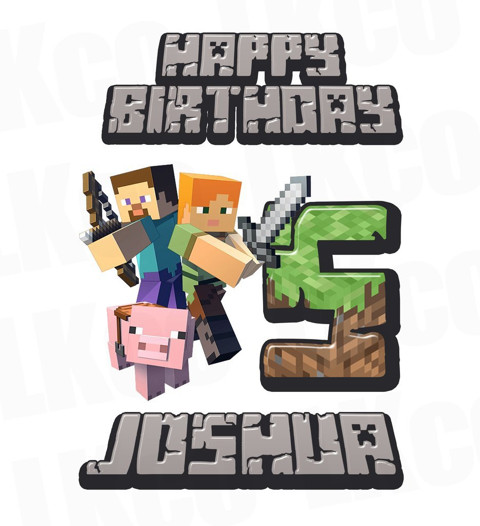 Minecraft Happy Birthday Images Minecraft Iron Transfer