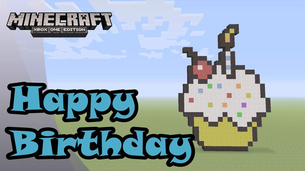 Minecraft Happy Birthday Images Minecraft Pixel Art Tutorial and Showcase Happy Birthday