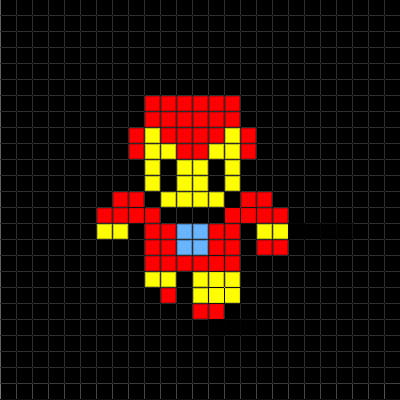 Minecraft Pixel Art Grid Basic Pixel Art the Iron Man Collection