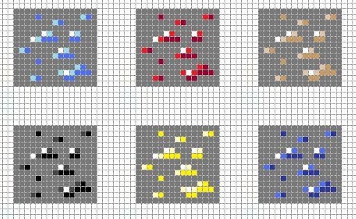 Minecraft Pixel Art Grid Minecraft ores Pixel Art Grid by Hama Girl D4dif7s