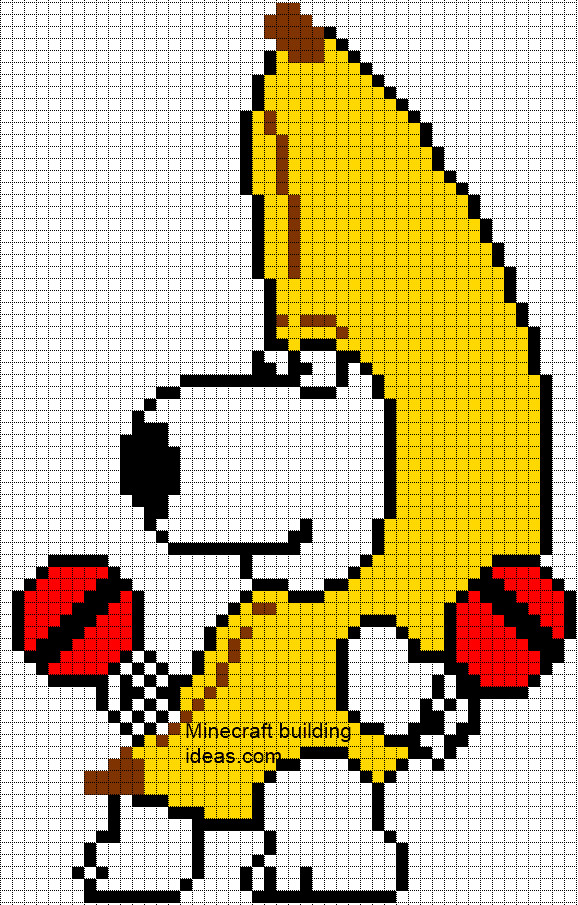 Minecraft Pixel Art Template Minecraft Pixel Art Templates Brian Peanut butter Jelly Time