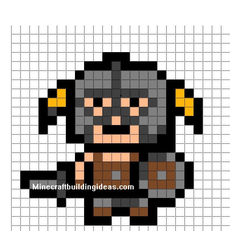 Minecraft Pixel Art Template Minecraft Pixel Art Templates Skyrim Dragon Born