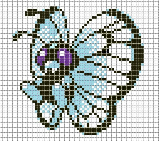 Minecraft Pokemon Pixel Art Grid Pokemon Pixel Art butterfree with Grid