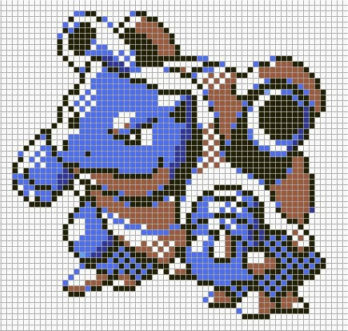 Minecraft Pokemon Pixel Art Grid Sandylandya Outlook Blastoise by Hama Girl On