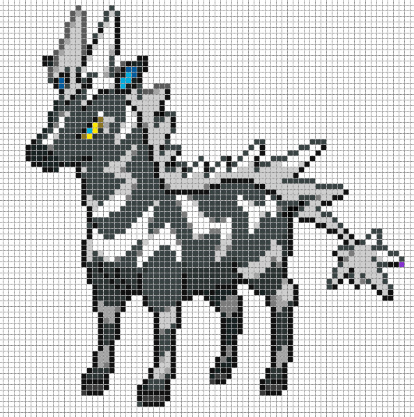 Minecraft Pokemon Pixel Art Grid Zebstrika by Hama Girl Poke Pixel Art to Do