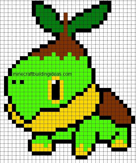 Minecraft Pokemon Templates Minecraft Pixel Art Templates Turtwig