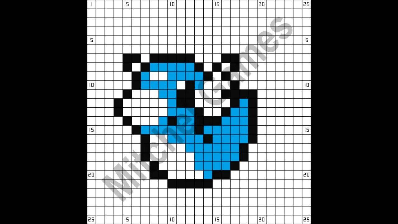Minecraft Pokemon Templates Minecraft Pokémon Dratini 25x25 Pixel Template