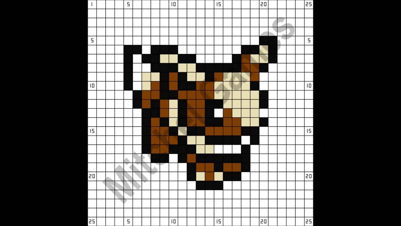 Minecraft Pokemon Templates Minecraft Pokémon Eevee 25x25 Pixel Template