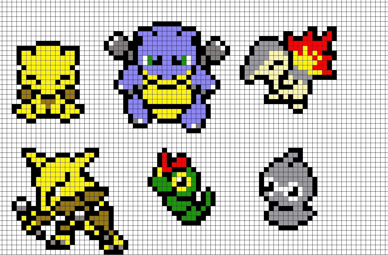Minecraft Pokemon Templates Pokemon Pixel Art Templates