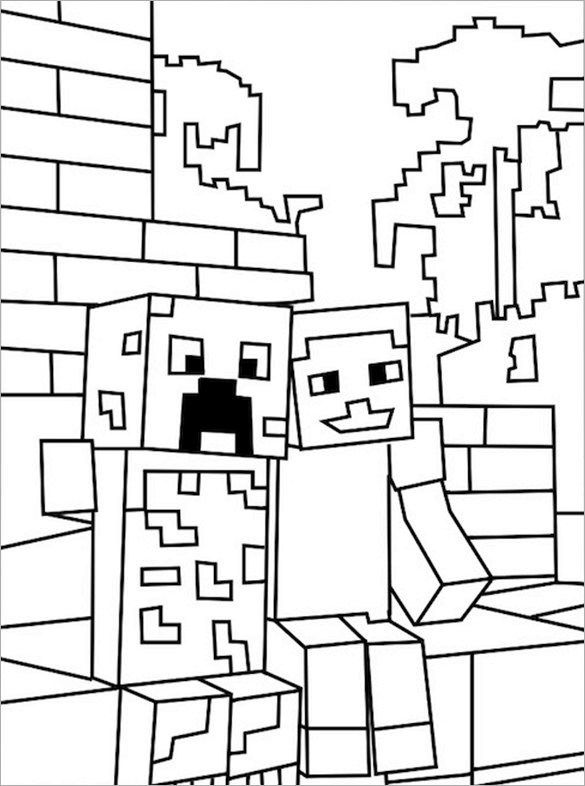 Minecraft Printable Coloring Pages 16 Minecraft Coloring Pages Pdf Psd Png