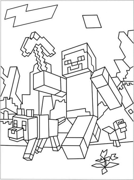 Minecraft Printable Coloring Pages Free Minecraft Coloring Sheet to Print Out