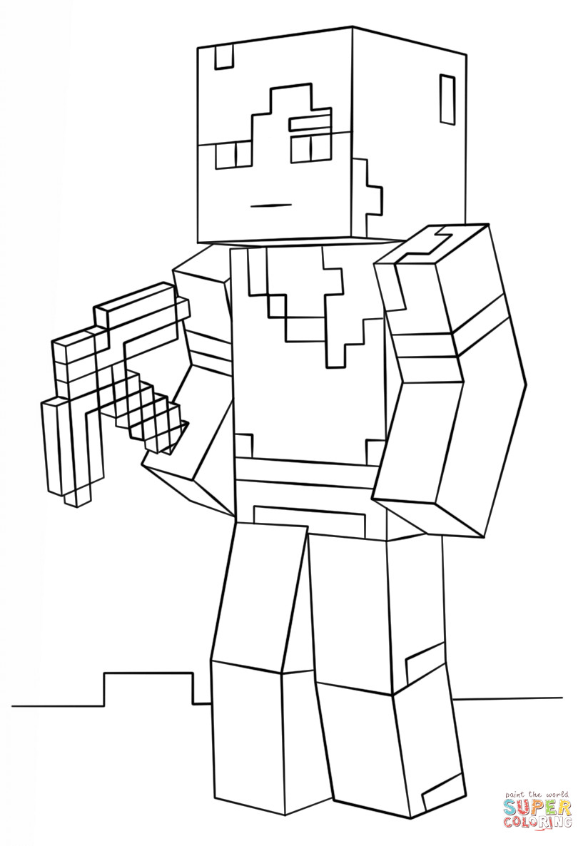Minecraft Printable Coloring Pages Minecraft Alex Coloring Page