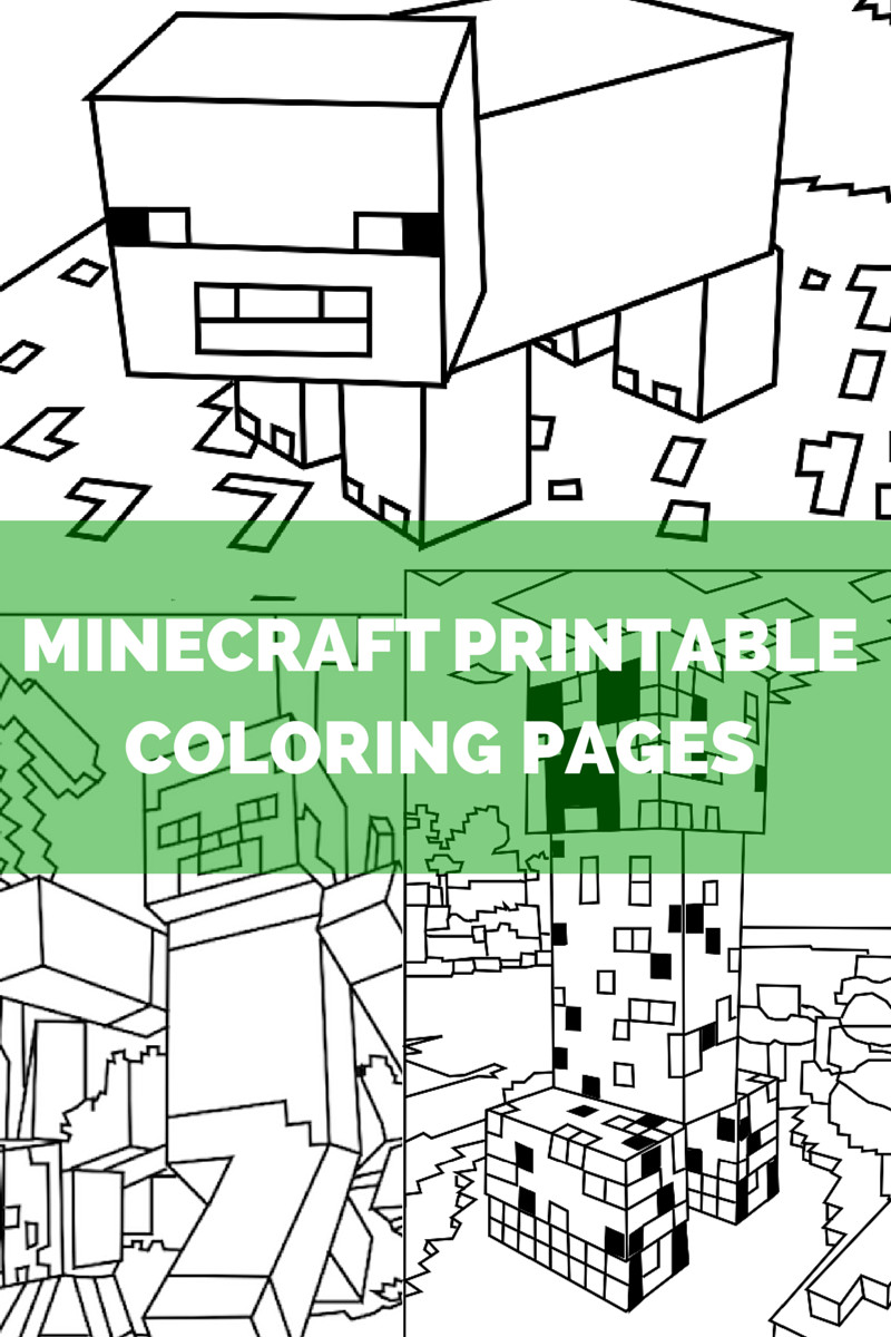 Minecraft Printable Coloring Pages Minecraft Coloring Pages