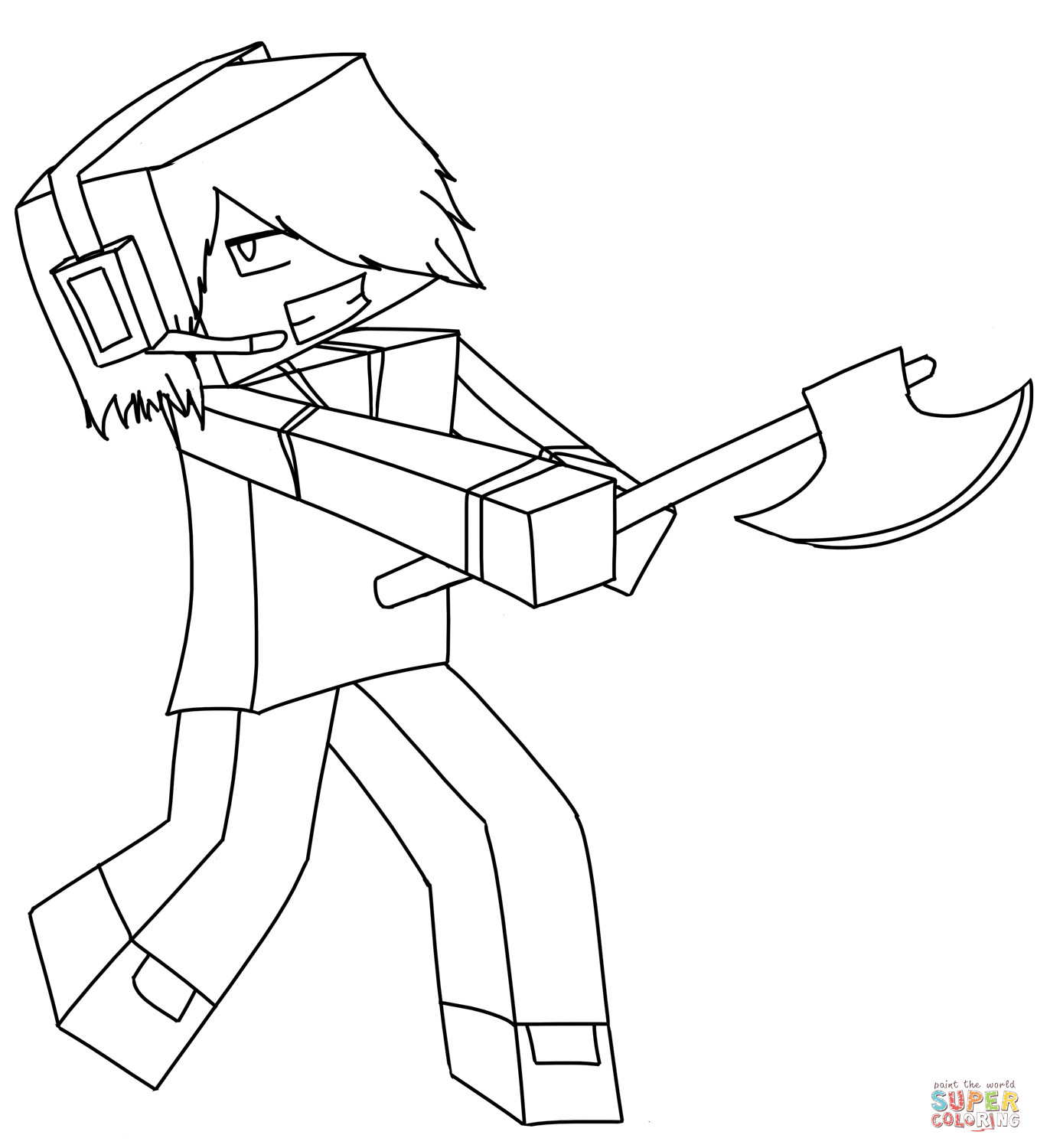 Minecraft Printable Coloring Pages Minecraft Deadlox Coloring Page