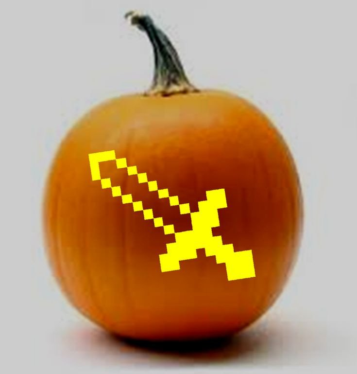 Minecraft Pumpkin Stencils 1000 Ideas About Minecraft Sword On Pinterest