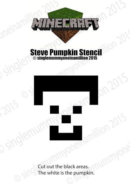 Minecraft Pumpkin Stencils Steve From Minecraft Free Pumpkin Stencil
