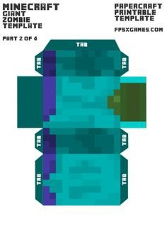 Minecraft Zombie Template 1000 Images About Craft Papercraft Cubbies On
