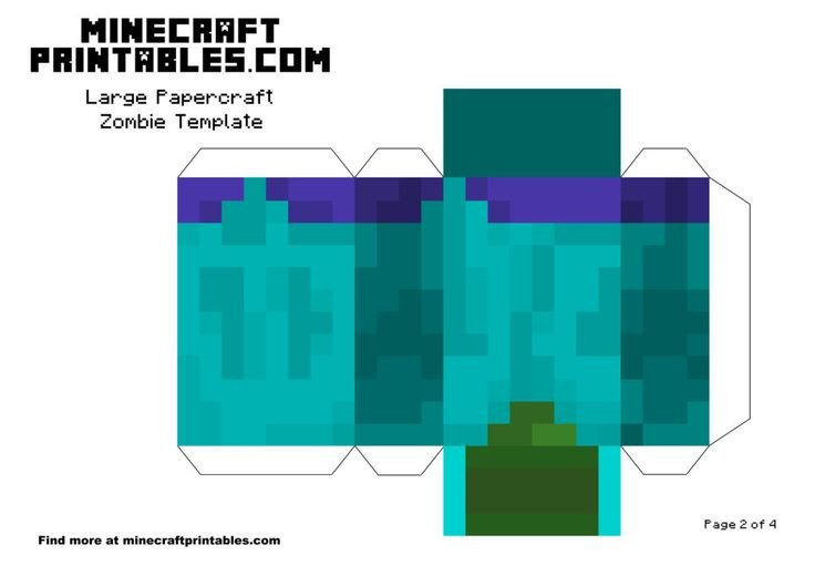 Minecraft Zombie Template 126 Best Images About Minecraft Printable Papercrafts On
